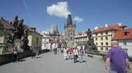 Stock Video Footage of Charles Bridge, Prague, Czech Republic