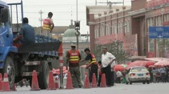 Road work in Hotan Stock Footage