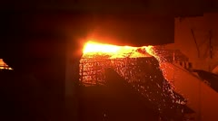 Iron and Steel Works. Metal smelting. Stock Footage