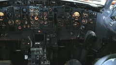 PAN JET COCKPIT - stock footage