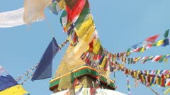 Nepal pray flags Stock Footage