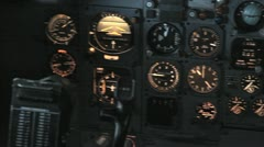 PAN JET COCKPIT 2 Stock Footage