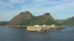 Rio a fort across the bay Stock Footage