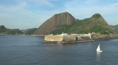Fort Santa Cruz on Guanabara Bay Stock Footage