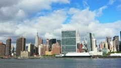 Manhattan panorama Stock Footage