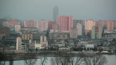 Pyongyang apartment buildings, North Korea Stock Footage