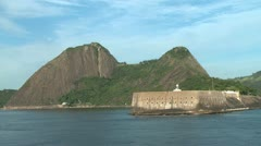 Rio fort and mountains Stock Footage