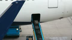 Luggage in Airplane Stock Footage