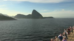 Rio from ship editorial Stock Footage