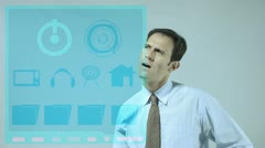 Stock Video Footage of Business Touch Screen