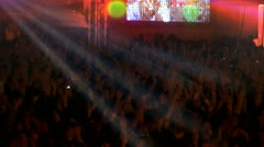 concert crowd dance night (light dance ) - stock footage