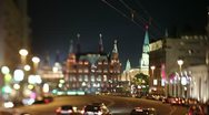 Moscow at night Stock Footage