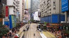 Yee Wo Street Stock Footage