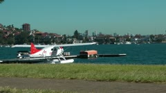 Plane on water Stock Footage