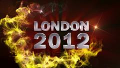 LONDON 2012 Text in Particle (Double Version) - HD1080 Stock Footage