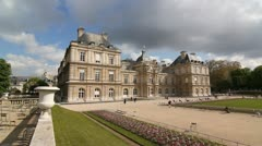 Luxembourg Palace. Stock Footage