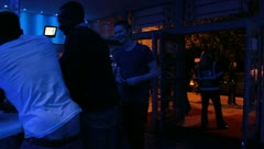 Nightclub foyer Stock Footage