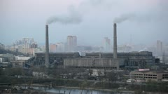 Pyongyang, Coal fired power plant, North Korea Stock Footage
