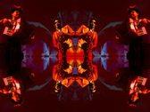 VJ01 psychedelic vj loop of two musicians Stock Footage