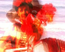 VJ03 vj loop of a man playing accordion Stock Footage