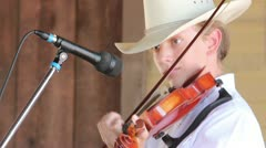 Topanga Banjo & Fiddle Festival Christian, 13 playing - stock footage