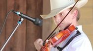 Stock Video Footage of Topanga Banjo & Fiddle Festival Christian, 13 playing