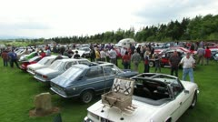 Vintage & Classic Car Show 2 Stock Footage