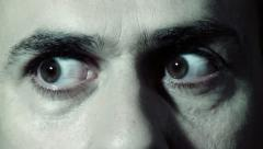Suspicious Eyes-close up Stock Footage