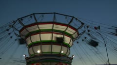 Chain carousel 02 Stock Footage