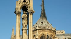 Notre Dame Cathedral. Detail. Stock Footage