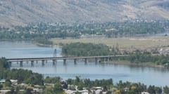 Kamloops, Canada and Thompson River Zoom Stock Footage