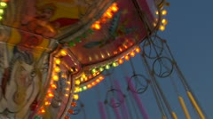 Chain carousel slow motion 04 Stock Footage