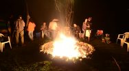 Stock Video Footage of Bonfire Party Timelapse