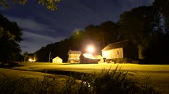 Farm at Night Timelapse Stock Footage