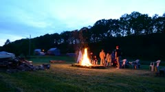 Beginning of a Bonfire - stock footage