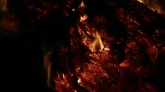 Fire Close Clip 10 Part 1 Stock Footage