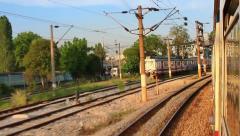 Suburbans train railways Stock Footage