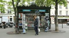 Paris newsagent. Stock Footage