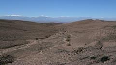 Atacama desert dry wash Stock Footage