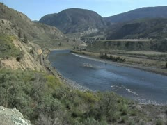 N.Thompson River Spences Bridge Stock Footage