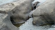 Stock Video Footage of water cascading over and between rocks - hd -1920x1080
