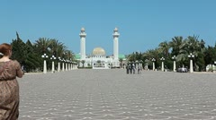 Mausoleum of the first president of Tunisia, Habib Bourguiba in Monastir Stock Footage
