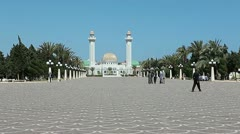 Mausoleum of the Habib Bourguiba a first president of Tunisia Stock Footage