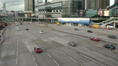 Massive road and banking advertising in Hong Kong Stock Footage