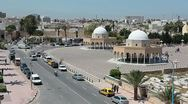 Stock Video Footage of Central part of Monastir city, Tunisia