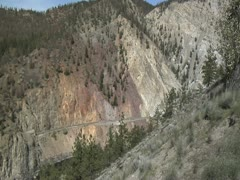 Rocky Mountaineer Train Avalanche Alley WS Stock Footage