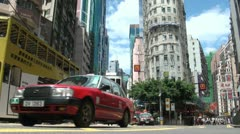 Beautiful crossing in Hong Kong, transportation, architecture, China - stock footage