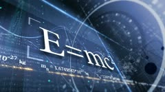PHYSICS, SCIENCE. ABSTRACT BACKGROUND WITH DIFFERENT FORMULAS - stock footage