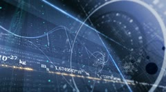 PHYSICS, SCIENCE. ABSTRACT BACKGROUND WITH DIFFERENT FORMULAS Stock Footage