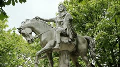 Equestrian statue of King Louis XIII. Stock Footage